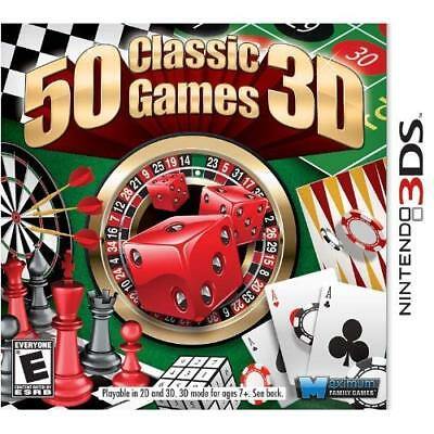 50 Classic Games Nintendo For 3DS Arcade With Manual and Case Very Good 3E