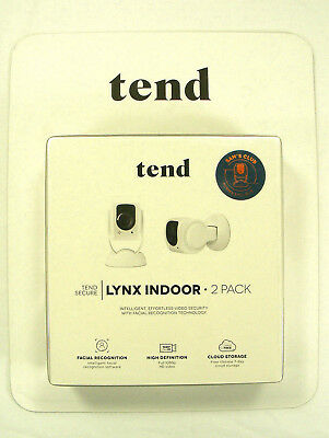 Tend Secure Lynx Indoor 1080p HD Wi-Fi Security Camera 2 Pak Night Vision & Face