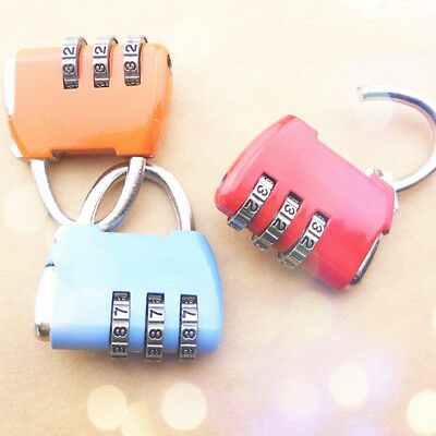 Travel Luggage Padlock Mini 3 Digit Combination Suitcase Security Cable Lock