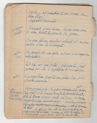 Hélène De Beauvoir / Manuscrit Intime De Jeunesse /27 Pages / Simone De Beauvoir