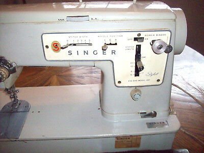 RARE VINTAGE Singer Zig-Zag Model 457 Stylist Electric Sewing Machine from1969
