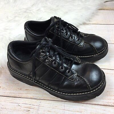 Lace 8 Womens Up Skechers Leather Shoes Black Sneakers Platform Vtg 90s Chunky HIW9ED2