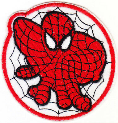 Marvel Avengers Spiderman iron-on patch superhero embroidered logo badge e tw