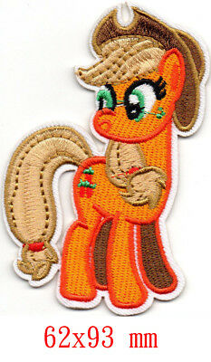 MY LITTLE PONY APPLEJACK CHARACTER EMBROIDERED APPLIQUÉ PATCH SEW OR IRON ON #25