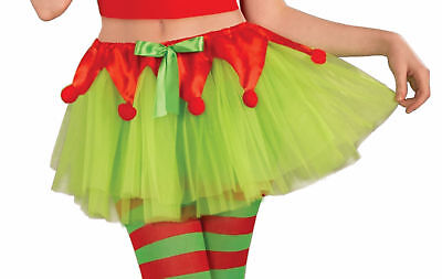 Christmas Elf Tutu Santas Little Helper Xmas Grotto Fancy Dress Accessory