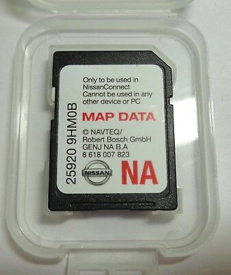 2014 2015 2016 Nissan Frontier & Altima Sedan Navigation SD card U.S CAN Map OEM