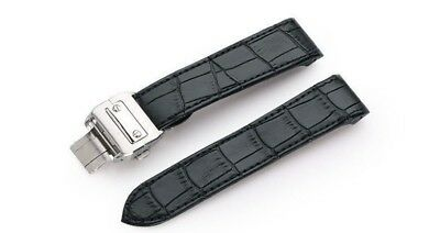 558f7ac3afb Bracelet 23mm band Leather alligator pattern W Buckle fit cartier Santos  100 XL