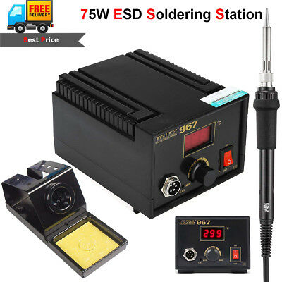 75w ESD Digital Soldering Station Electric Rework Iron LCD lead-free Desoldering
