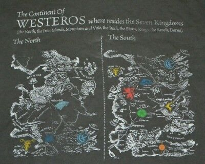 LICENSED GAME OF Thrones Westeros Seven Kingdoms Map Shirt Medium Junk on game of thrones character flow chart, game of thrones kingdom names, game of thrones family tree, seven kingdoms westeros map, game of thrones lore, complete game of thrones 7 kingdoms map, game of thrones maps hbo, game of thrones background, game of thrones mago, game of thrones seven kingdoms of westeros, kingdoms in anglo-saxon england map, game of thrones workout, game of thrones maps pdf, asoiaf world map, game of thrones war,