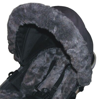 Luxury Fur Hood Trims - fit iCandy, Silver Cross, Bugaboo etc