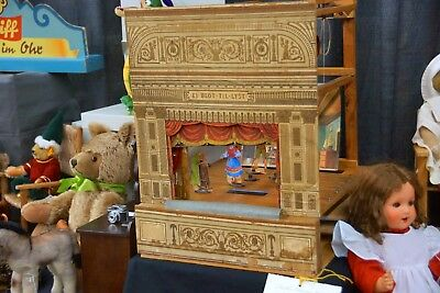 Collectible Antique Play Theater 1934 Danish, Lite, Multiple Scenes & Characters