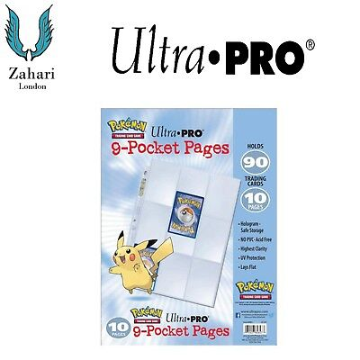 10 Pages Ultra PRO Pikachu Pokemon 9-Pocket Pages!