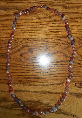 Rare Ancient Tribal or Hilltribe Carnelian Bead Necklace Thailand or Burma
