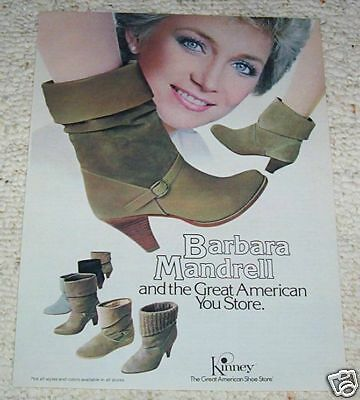 1984 ad page - Kinney shoe shoes boots BARBARA MANDRELL 1-page AD