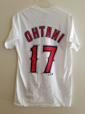 NWT Shohei Ohtani Los Angeles Angels Majestic Men s S Name   Number T-Shirt a2f37f456