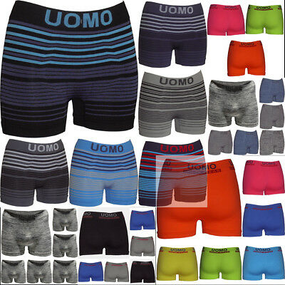Lot 6 Boxer Homme UOMO Microfibre sans couture men boxer short