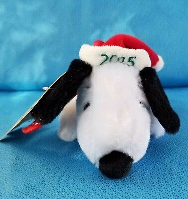 Hallmark Floppy Snoopy Stuffed Animal Plush Toy MerryRocking Christmas 50 Years