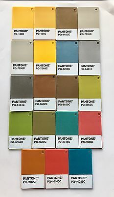 One (1) Pantone Plastic Standard Chip - Assorted Colors (19 different colors)