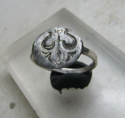 Scarce Medieval Silver Cultists Ring