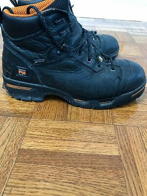 Timberland Pro Steel Toe Boots Mens Size 9 Work Boots Anti-fatigue Black