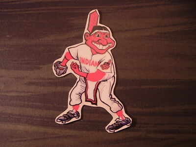"Cleveland Indians Chief Wahoo Figure Sticker / Decal 5.25"" H x 3.5"" W"