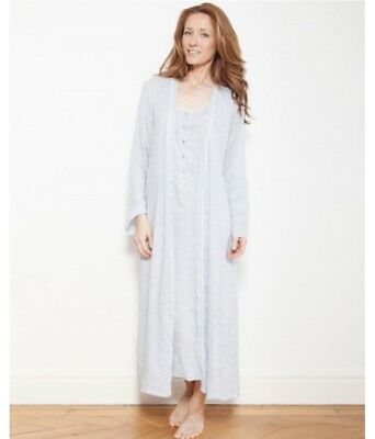 Cyberjammies Nora Rose blue woven embroidered Robe/ Wrap UK Size 22 BNWT