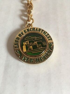 Land of Enchantment New Mexico Keychain With Green Middle That Spins NEW