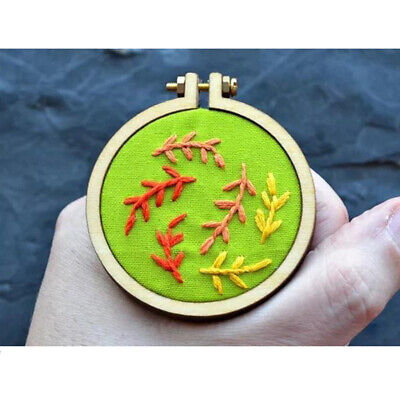 Mini Round Embroidery Hoop Wooden Cross-Stitch Frame for Children DIY Crafts