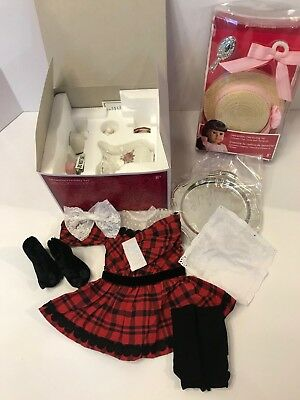 American Girl Holiday Set and Hair Styling Set for Samantha - New In Box