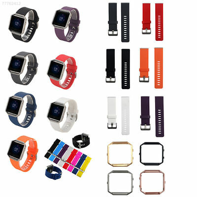 D747 Replacement Sport Silicon Watch Strap Band + Frame For Fitbit Blaze Tracker