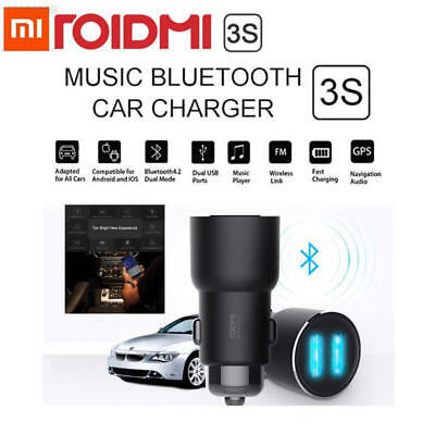 359F Xiaomi Roidmi 3S 2S Music Bluetooth Car Charger 2.4A Fast Charge Dual USB B