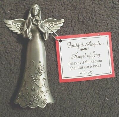 "Faithful Angels by Ganz Decorative Metal Angel Ornament / Figurine - 3½"" - New"