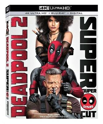 Deadpool 2 SUPER DUPER CUT (4K UHD Blu-Ray,+ Blu-ray, 2018) NO DIGITAL HD