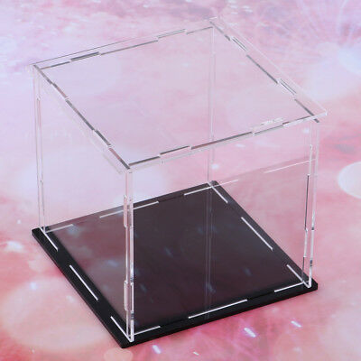 Acrylic Display Boxes Clear Toy Show Case Rustproof Cube Protective NEW