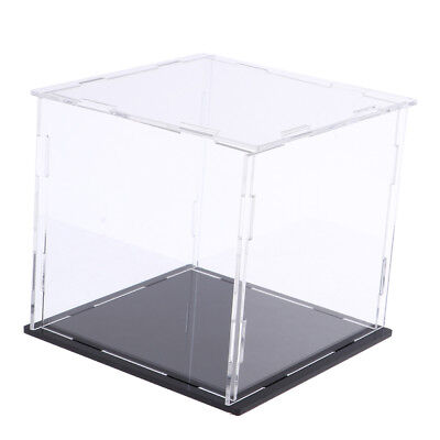 Acrylic Display Boxes Clear Toy Show Case Rustproof Cube Protective NEW 14cm