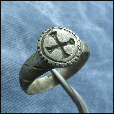 """"""" C R O S S """"  Ancient Silver Byzantine Ring !!!"""