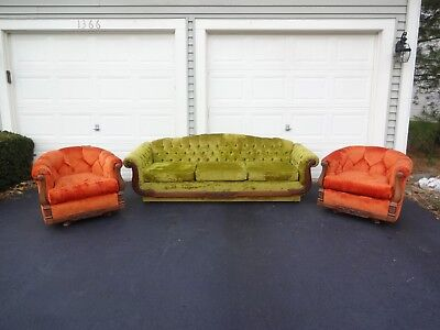 Super Vintage Mid Century Crushed Velvet Sofa Chairs Retro Style Machost Co Dining Chair Design Ideas Machostcouk