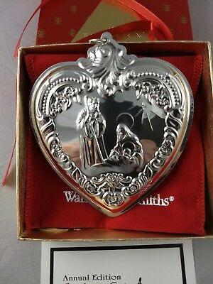 1995  Wallace Christmas Heart Sterling Ornament New, Unused, Box, Bag