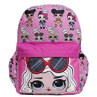 LOL Surprise! Large Pink All-Over Print Girls' School Backpack- Leading Baby