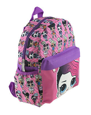 """LOL Surprise! Small 12"""" Pink All-Over Print Girls' School Backpack-TODDLER"""