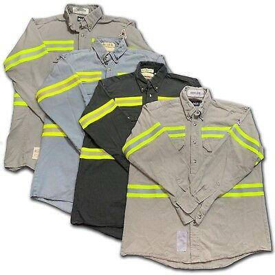 Bulwark Flame Resistant Reflective Shirt FR Enhanced Visibility Work Uniform