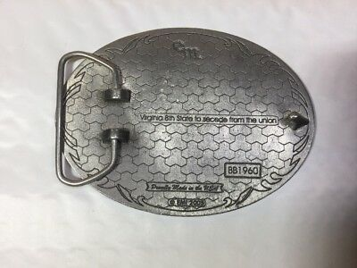 """VIRGINIA  8th State 50th 2005 BELT BUCKLE """" RARE """""""