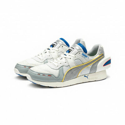 2a0913a6bfed68 PUMA x Ader Error RS-100 White Silver Blue Limited Shoes 36719702 Size 5-