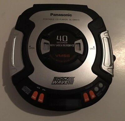 Panasonic Shockwave Discman Cd Player Vmss Sl-Sw515 Anti-Shock Vintage Workout