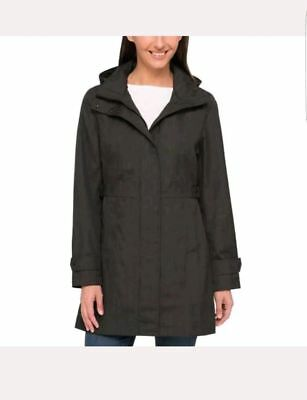 f3fa07396 NEW KIRKLAND SIGNATURE Womens Jacket Rain Dark Gray Charcoal ...