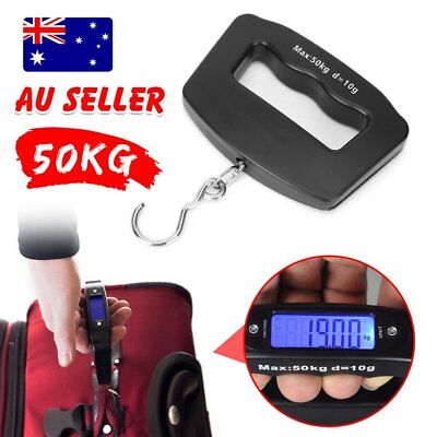 Electronic Portable Digital Scale Weight Hanging Luggage Scales Travel 50 KG OZ