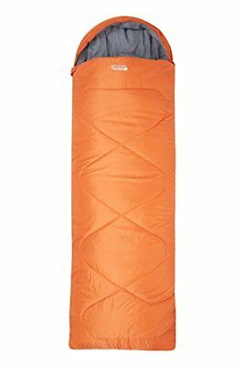 Mountain Warehouse Saco de Dormir Tipo Rectangular (Right Handed Zip|Naranja)