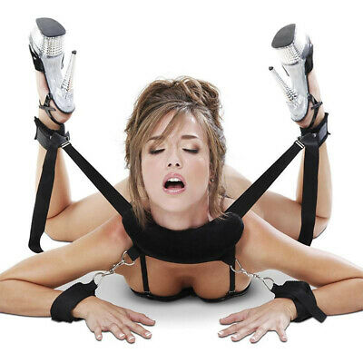 Adult Fancy Toy Thigh Leg Restraint Set Hand Ankle Cuff Strapes Sex Handcuffs