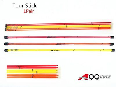 1pair A99Golf Alignment Sticks Swing Tour stick Putting Alignment Training Aid