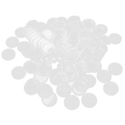 100pcs Clear Round Case Coin Plastic Capsules Holder Container 18mm to 50 mm